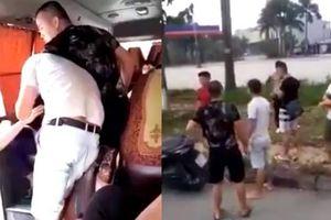 Clip giang hồ ở Phú Thọ chặn ô tô khách đánh tài xế và lơ xe, thách thức công an