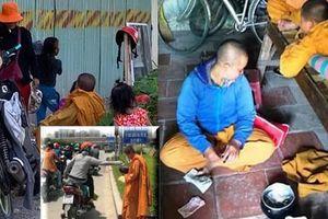 Lật tẩy nhóm giả sư chùa, dắt lũ trẻ đi xin tiền dưới nắng nóng ở xa lộ Hà Nội