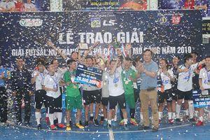 Thái Sơn Nam Quận 8 vô địch Giải futsal nữ TP.HCM mở rộng 2019