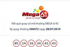 Xổ số Vietlott Mega 6/45: 7 người hụt giải Jackpot hơn 21 tỷ đồng ngày hôm qua?