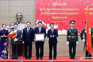 CHDCND Lào trao tặng Huân chương Lao động hạng Nhất cho Đảng bộ, chính quyền và nhân dân Nghệ An