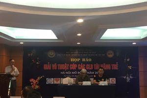Giải võ thuật các CLB Tài năng trẻ Việt Nam – Hà Nội mở rộng năm 2019