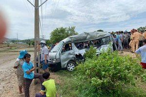 Tai nạn ở Bình Thuận: Tàu hỏa tông xe 16 chỗ, 3 người tử vong, 1 người bị thương