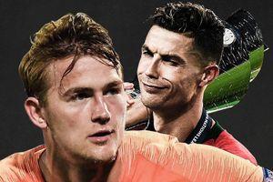 De Ligt sánh vai Ronaldo ở top 10 ứng viên cho danh hiệu 'The Best'