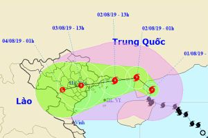 Bão số 3 giật cấp 12 bẻ hướng, thẳng tiến Quảng Ninh-Thái Bình