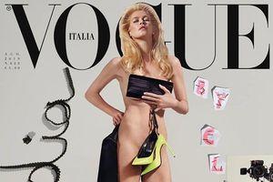Cựu siêu mẫu 50 tuổi khỏa thân táo bạo trên bìa tạp chí