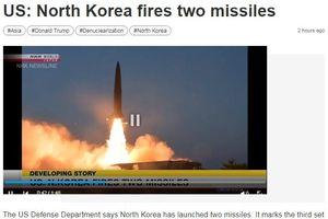 Hàn Quốc: Triều Tiên phóng các vật thể tầm ngắn 'chưa xác định'