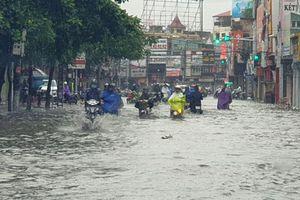 Hải Phòng: Nhiều tuyến phố ngập lụt, ngổn ngang cây đổ