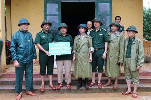 Đoàn công tác Bộ Tư lệnh BĐBP chỉ đạo công tác khắc phục hậu quả mưa lũ tại xã Na Mèo