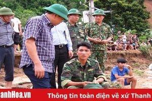 Thứ trưởng Bộ NN&PTNT Nguyễn Hoàng Hiệp kiểm tra tình hình mưa lũ tại huyện Quan Sơn