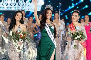 Top 3 Miss World Vietnam 2019 giao lưu trên VietNamNet sáng 6/8