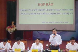 Công bố nguyên nhân sự cố y khoa chạy thận tại Nghệ An khiến 6 bệnh nhân có biểu hiện sốc do… hệ thống dẫn nước