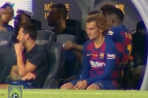 Messi không quá nồng nhiệt với Griezmann ở trận tranh cúp Joan Gamper
