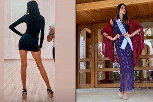 Bản tin Hoa hậu Hoàn vũ 6/8: Hoàng Thùy lên đồ bó sát 'chặt đẹp' thời trang bà thím của đối thủ Colombia