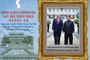 Triều Tiên ra mắt bộ tem kỷ niệm cuộc gặp thượng đỉnh Trump-Kim ở DMZ