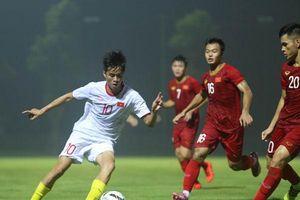 HLV Park Hang Seo đã bày binh để U22 Việt Nam có trận đấu tập nội bộ ấn tượng