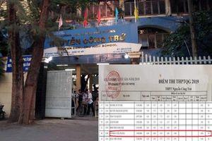 Lãnh đạo Sở còn nhớ hay quên vụ sửa điểm ở trường Nguyễn Công Trứ?