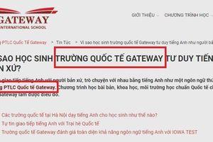 'Không có trường nào là Tiểu học Quốc tế Gateway'
