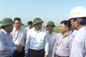 Hà Tĩnh yêu cầu dừng thi công công trình trong phạm vi GPMB dự án cao tốc Bắc-Nam