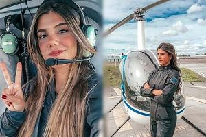 Nữ phi công gợi cảm hút dân mạng vì quá xinh đẹp