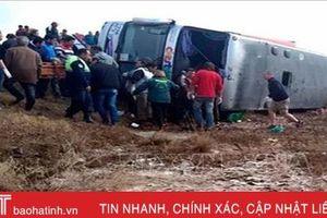 Lật xe khách thảm khốc khiến 4 người thiệt mạng, 42 người bị thương