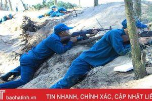 Gay cấn màn diễn tập tiêu diệt biệt kích của dân quân vùng biển Hà Tĩnh