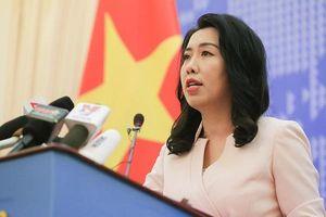 Bộ ngoại giao: Nhóm tàu khảo sát Hải Dương 8 đã rời khỏi vùng biển Việt Nam