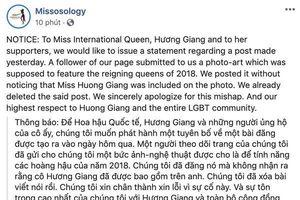 Fan ghép ảnh Hương Giang 'gây sóng gió' Missosology, bảo vệ Hoa hậu Chuyển giới Quốc tế