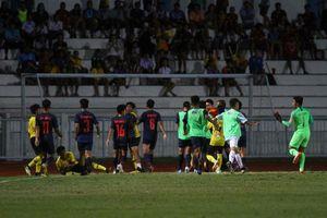 Cầu thủ Thái Lan và Malaysia ẩu đả dữ dội ở chung kết Giải U.15 Đông Nam Á