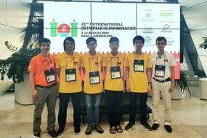 Việt Nam giành 2 huy chương Vàng Olympic Tin học quốc tế 2019