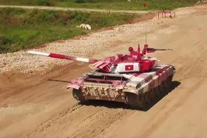 Đội xe tăng Việt Nam thi đấu xuất sắc ở vòng bán kết Tank Biathlon