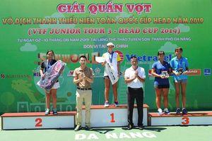 Giải vô địch quần vợt thanh thiếu niên toàn quốc năm 2019: Trần Diễm Ngọc (Đồng Nai) giành HCĐ đơn nữ U.18