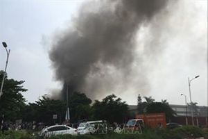 Cháy lớn tại Khu Công nghiệp Sài Đồng B, Hà Nội