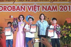 Cậu bé 9 tuổi trở thành quán quân Học sinh giỏi Toán tư duy Soroban Quốc gia lần 8