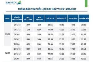 Bamboo Airways thay đổi giờ bay của một số chuyến bay