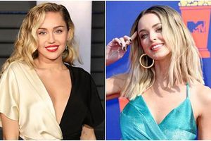 Đường cong gây mê của cô gái Miley Cyrus ôm hôn giữa scandal bỏ chồng