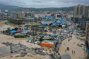 Trung Quốc tan hoang sau trận bão Lekima làm hàng chục người chết