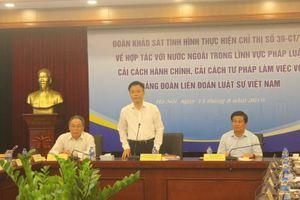 Khảo sát tình hình thực hiện Chỉ thị số 39-CT/TW tại Liên đoàn Luật sư Việt Nam