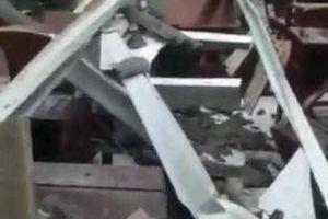 Hội trường thị trấn ở Hậu Giang bất ngờ sập mái sau 8 tháng khánh thành