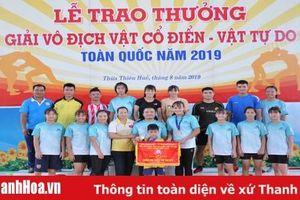 Các VĐV Thanh Hóa thi đấu thành công tại giải vô địch vật tự do, vật cổ điển toàn quốc 2019