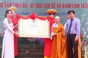 Công bố Di sản văn hóa phi vật thể quốc gia 'Lễ vía bà Linh Sơn Thánh Mẫu - núi Bà Đen'