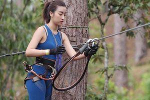 Hoa hậu Mỹ Linh bật khóc ở Cuộc đua kỳ thú