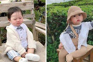 Bộ ảnh 'check in' ở Đà Lạt không chỉ 'hot' mà biểu cảm của em bé này lại càng khiến người khác thích thú