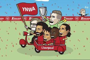 Biếm họa 24h: Liverpool 'nhuộm đỏ' trời Âu, Chelsea liên tiếp 'ôm hận'