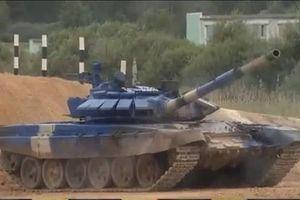 Xem đội tuyển xe tăng Việt Nam thi đấu chung kết Tank Biathlon