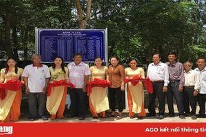 Xã Hòa Lạc khánh thành 2 tuyến đường bê tông