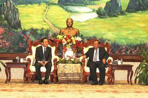 TBT-CTN Lào tiếp Chánh Văn phòng Trung ương Đảng Nguyễn Văn Nên
