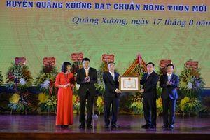 Công bố quyết định công nhận Quảng Xương đạt chuẩn nông thôn mới