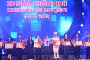 Kỷ niệm 20 năm Chiến dịch Thanh niên tình nguyện hè: Đoàn Thanh niên Hà Nội nhận Huân chương Lao động hạng Ba