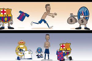 Biếm họa 24h: Barca 'ôm hận' vì thiếu Messi, Neymar mơ ngày về chốn cũ